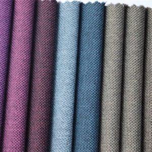 на едро полиестер двуцветна оксфорд цвят тъкан за чувал материал
