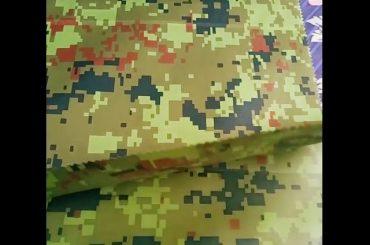 Китай производител на едро камуфлаж релефни rainwear геотекстил плат за външна тъкан